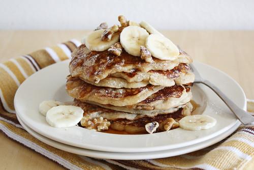 banana bread pancakes.