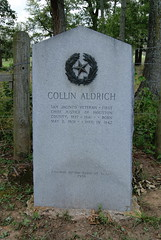 Photo of Collin Aldrich black plaque