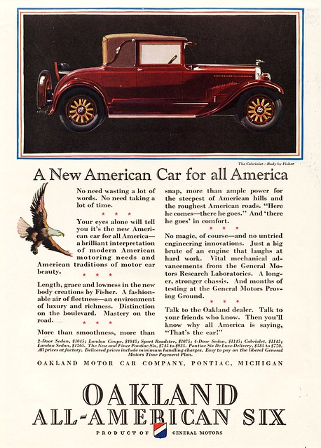 1928 Oakland All-American Six Cabriolet