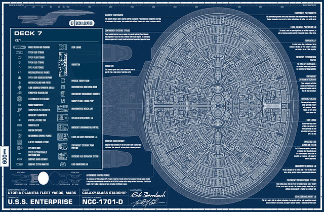 NCC 1701 Deck Plans http://www.flickr.com/photos/12337473@N06/7489284222