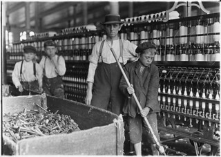 Sweeper and doffer boys in Lancaster Cotton Mills. Many more as small, December 1908