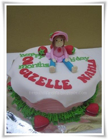 Strawberry Shortcake for Gizelle by DiFa Cakes