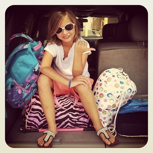 It's Florida or bust for this little one! #hannah #enjoythesmallthings #luggage #roadtrip #summerfun