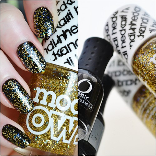 Models Own Disco Heaven Orly Black Out swatches