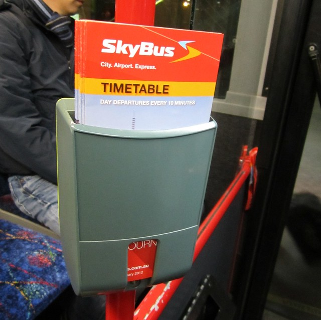 Myki reader mounting point on Skybus