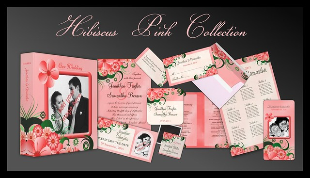 Pink Hibiscus Floral Wedding Collection