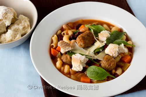 意式雜菜牛肉丸子湯 Minestrone Soup with Angus Beef Balls02