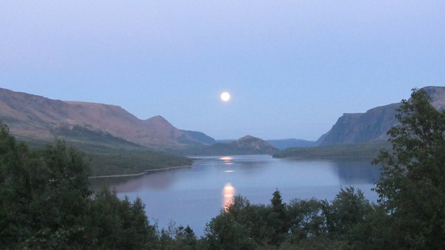 Moonrise Over Trout River Pond