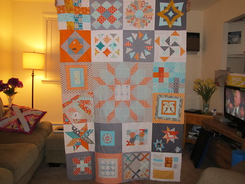 Orange Aqua Grey Sampler Complete - Yay! :)