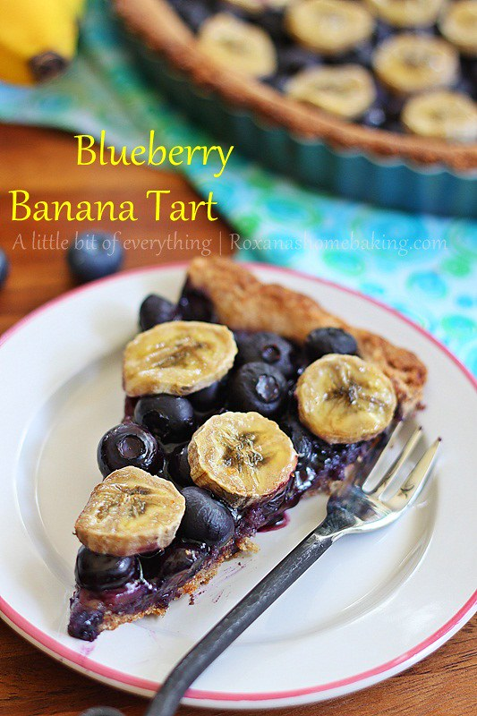 Blueberry Banana Tart |roxanashomebaking.com