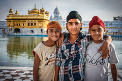 Three Sikhs / Golden Temple