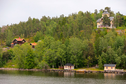 Typical Swedish isles and cottages