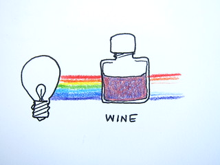 Illustration of wine spectroscopy