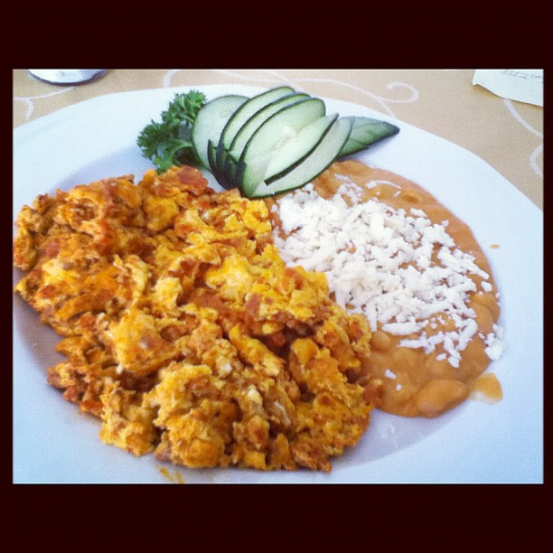 Huevos con chorizo (Scrambled eggs with sausage) | Flickr - Photo ...