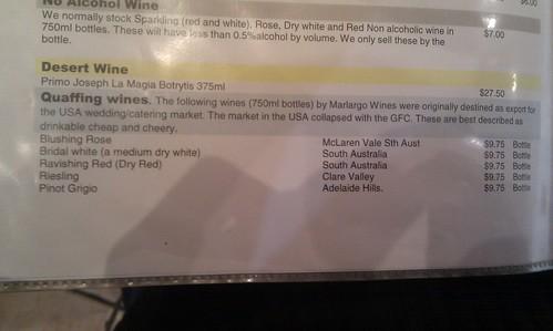 Quaffing Wine