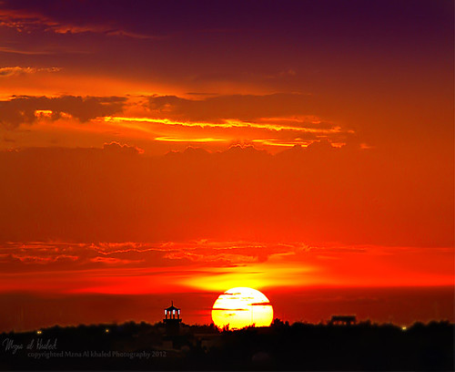 sunset colors beautiful silhouette yellow canon landscape saudi natrue 70200mm 50d colorphotoaward لاندسكيب mzna ramdan1433