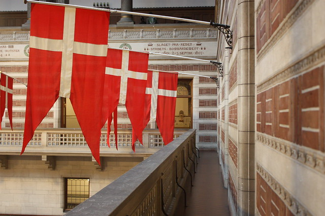 Danish flags in City Hall