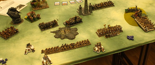 Battle 1 Vs Warriors of Chaos  - Turn 4 Dwarfs