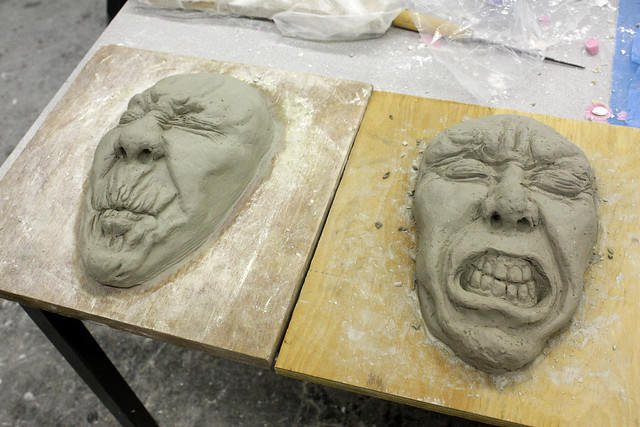 Leather hard clay art prof