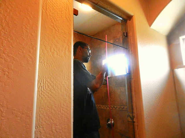 Installing The New Master Bathroom Shower Door 26 Inches