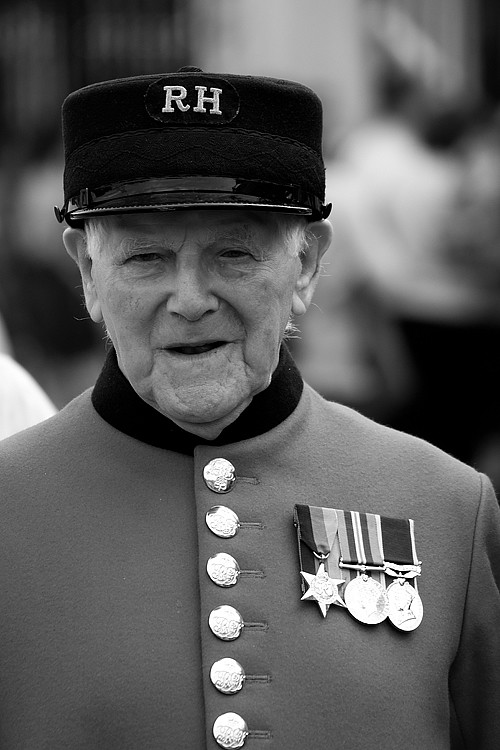 Chelsea Pensioner at the Royal Hospital Chelsea