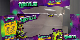 Nickelodeon  TEENAGE MUTANT NINJA TURTLES :: DRAGON CHOPPER ..box i (( 2012 ))