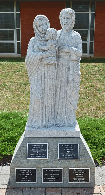 Saint Vincent de Paul Roman Catholic Church, in Perryville, Missouri, USA - statue of the Holy Family
