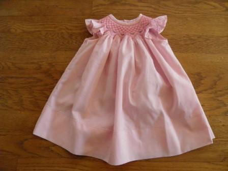 Full view pink cotton bishop