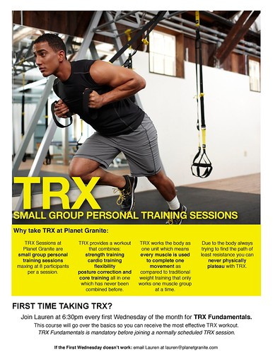 TRX at Planet Granite Belmont