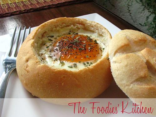 Eggs in Bread Baskets