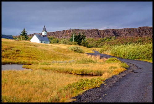 road church landscape iceland hdr landsape pingvellir janherremans