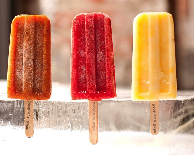 Fresh, local fruit ice pops from Brooklyn's People's Pops.