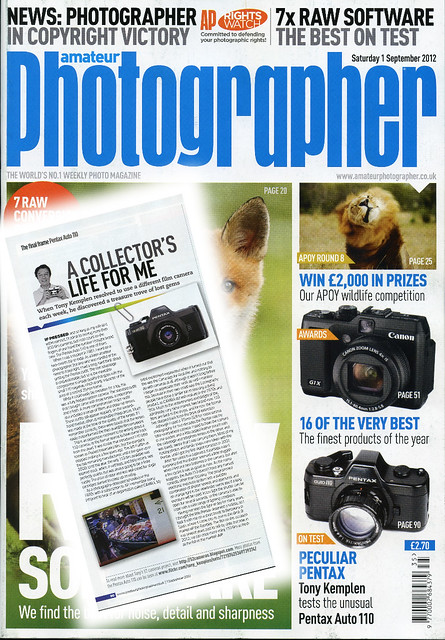 Pentax Auto 110 in Amateur Photographer magazine