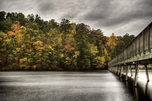 longexposure bridge usa fall fallcolors northcarolina raleigh ponte autunno hdr lakejohnson massimostrazzeri coloriautunnali ziomamo