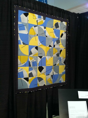 my quilt at the quilt festival