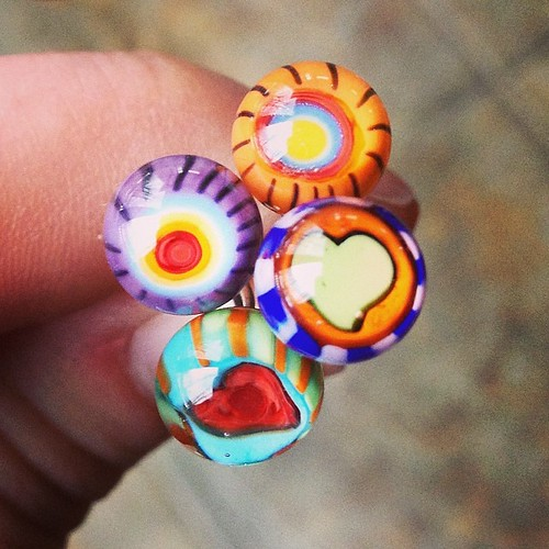 Double ended headpins #lampwork #glassaddictions