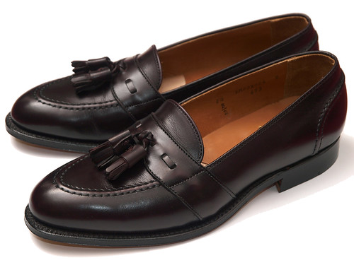 Alden / Full Strap Tassel Slip-On Burgundy Calfskin