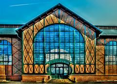 Dortmund, Industriemuseum Zeche Zollern -- Haupteingang der Maschinenhalle (Main entrance of the machine hall)