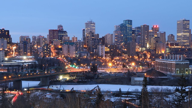 Edmonton Downtown from Saskatchewan Drive