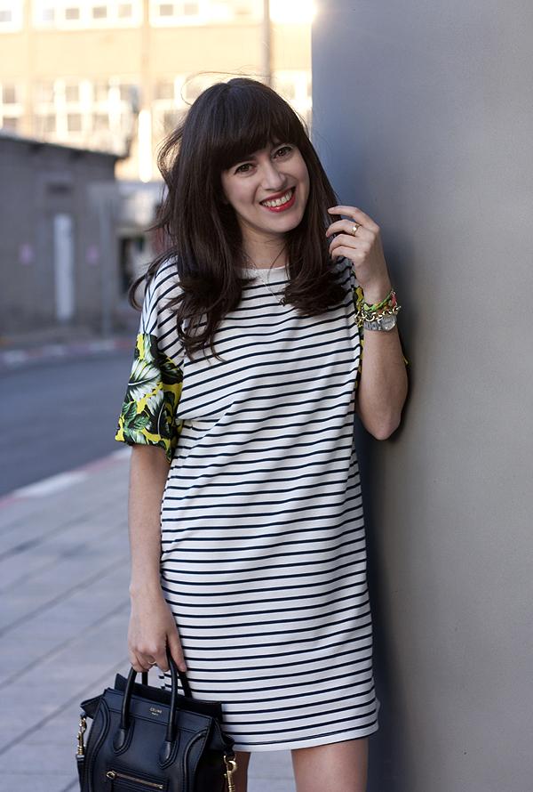 israeli fashion blog, stripe dress, celine bag, בלוג אופנה, שמלת פסים, תיק סלין, אפונה בלוג אופנה