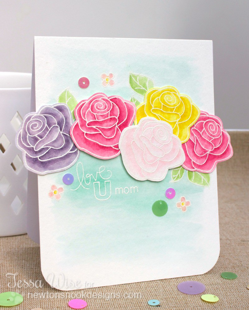 NEWTON'S NOOK DESIGNS Roses For Mom Card