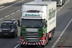 Scania R440 6x2 Tractor with 3 Axle Refrigerated Trailer - PJ11 NPP - Amelia Rehiannon - Eddie Stobart - M1 J10 Luton - Steven Gray - IMG_4330