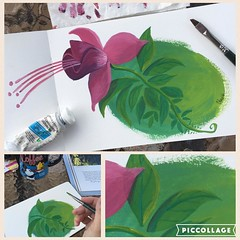 I love #painting and I love #nature, so I broke out my #gouache (it's been a while!!!) and am gonna do a summer painting series of #flowers and #plants in our own backyard. And I am gonna do it for fun and decide it does not need to be perfect. (THIS IS H