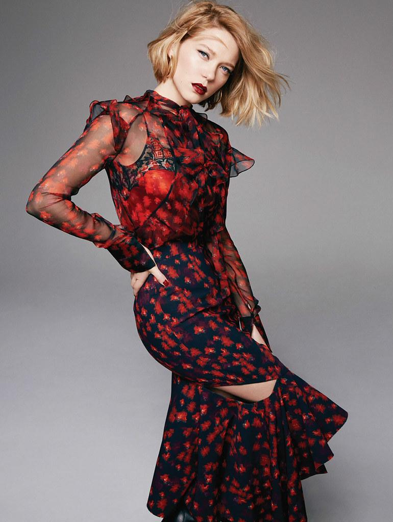 Леа Сейду — Фотосессия для «Elle» UK 2016 – 6