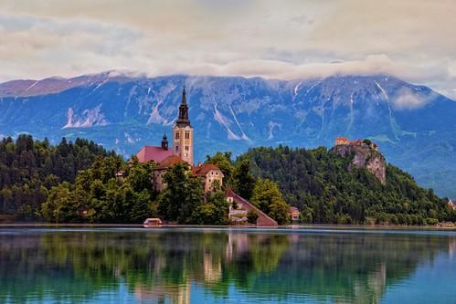 slovenia lakebled bledcastle pilgrimagechurchoftheassumptionofmaria