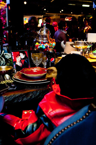 Michael Jackson's chair and table setting