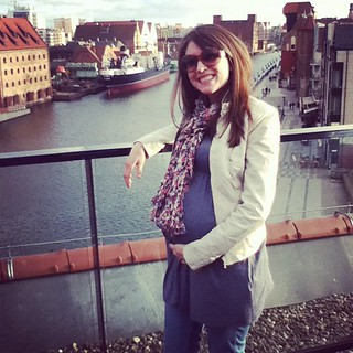 29 weeks- this one to the day. Downtown Gdansk.