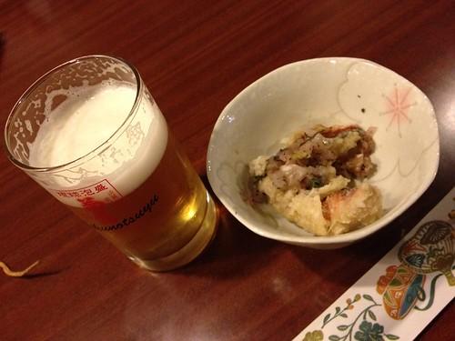 オリオンビールとグルクン天ぷら