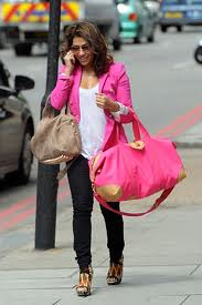 Vanessa White Pink Blazer Celebrity Fashion Style