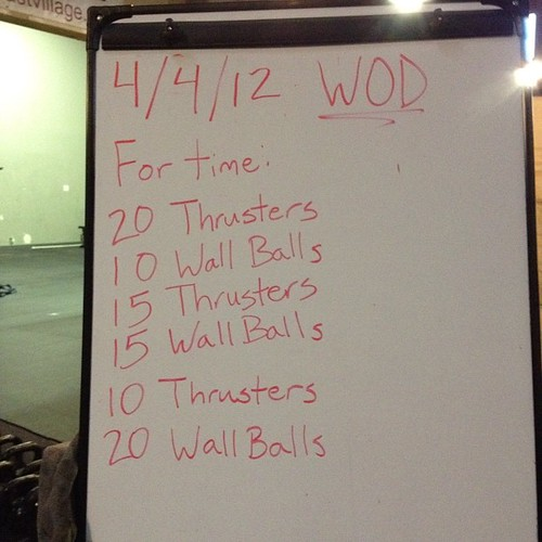 I hate wall balls. Seriously. #crossfit #wod